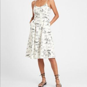 Banana Republic Linen-Cotton Midi Dress size 2